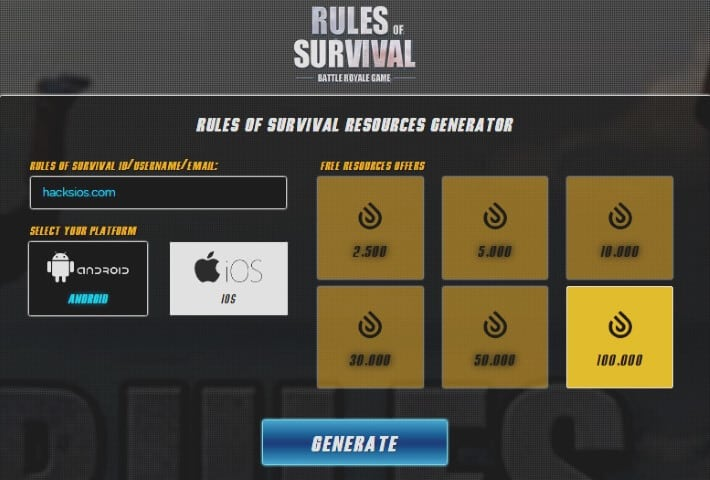 Rules of Survival Cheats Hack
